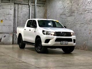2015 Toyota Hilux GUN136R SR Double Cab 4x2 Hi-Rider White 6 Speed Sports Automatic Utility.