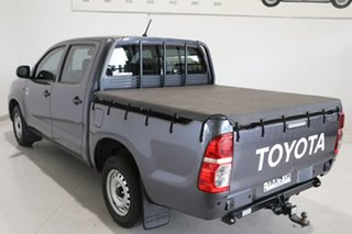 2014 Toyota Hilux TGN16R MY14 Workmate Double Cab 4x2 Grey 4 Speed Automatic Utility.