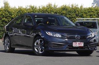 2016 Honda Civic 9th Gen Ser II MY15 VTi Blue 5 Speed Sports Automatic Sedan.