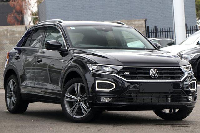 New Volkswagen T-ROC A1 MY21 140TSI DSG 4MOTION Sport Botany, 2021 Volkswagen T-ROC A1 MY21 140TSI DSG 4MOTION Sport Deep Black Pearl Effect 7 Speed