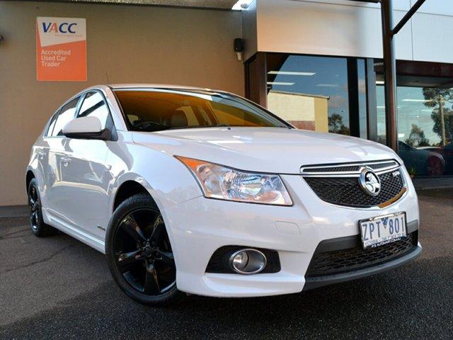 Used Holden Cruze JH Series II MY13 SRi Fawkner, 2013 Holden Cruze JH Series II MY13 SRi White 6 Speed Sports Automatic Hatchback