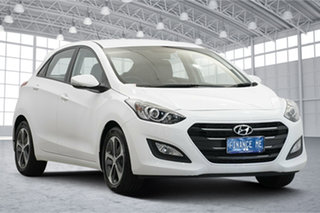 2015 Hyundai i30 GD3 Series II MY16 Active X Polar White 6 Speed Sports Automatic Hatchback.