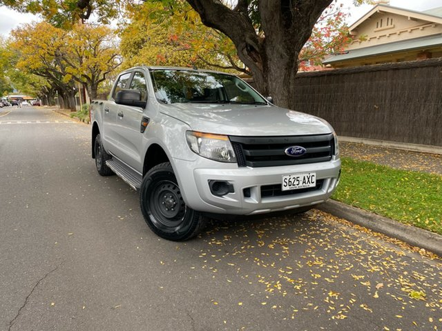 Pre-Owned Ford Ranger PX XL Hawthorn, 2013 Ford Ranger PX XL Silver 6 Speed Manual Utility