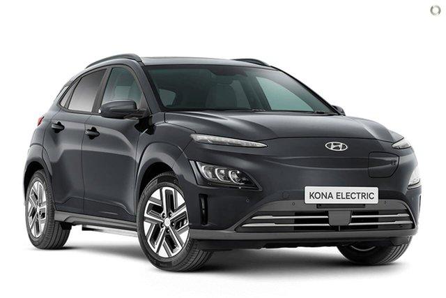 New Hyundai Kona Os.v4 MY21 electric Highlander Oakleigh, 2021 Hyundai Kona Os.v4 MY21 electric Highlander Grey 1 Speed Reduction Gear Wagon
