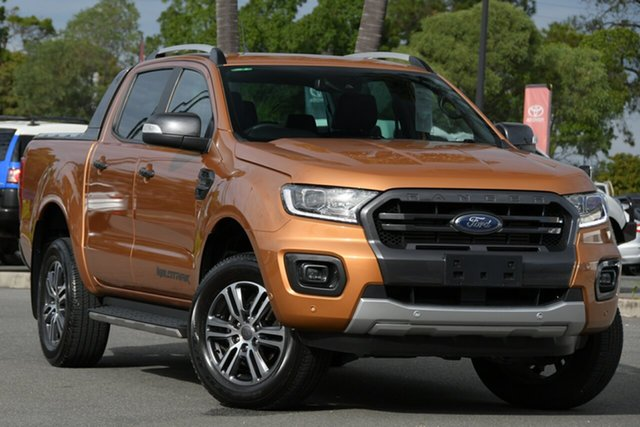 Used Ford Ranger PX MkIII 2020.75MY Wildtrak North Lakes, 2020 Ford Ranger PX MkIII 2020.75MY Wildtrak Orange 10 Speed Sports Automatic Double Cab Pick Up