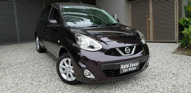 Used Nissan Micra K13 MY15 TI Southport, 2016 Nissan Micra K13 MY15 TI Black 4 Speed Automatic Hatchback