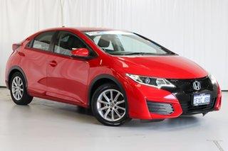 2015 Honda Civic 9th Gen MY15 VTi-S Red 5 Speed Sports Automatic Hatchback.