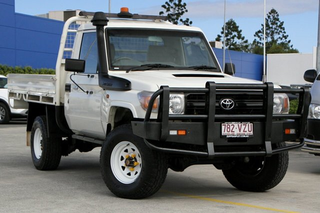 Used Toyota Landcruiser VDJ79R MY10 Workmate Aspley, 2012 Toyota Landcruiser VDJ79R MY10 Workmate White 5 Speed Manual Cab Chassis