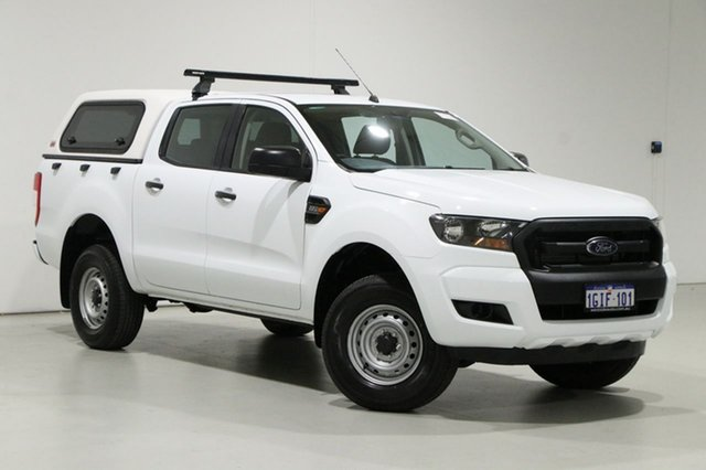 Used Ford Ranger PX MkII MY17 XL 2.2 Hi-Rider (4x2) Bentley, 2017 Ford Ranger PX MkII MY17 XL 2.2 Hi-Rider (4x2) White 6 Speed Automatic Crew Cab Pickup