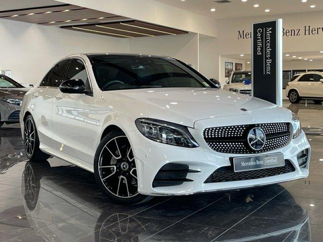 Used Mercedes-Benz C-Class W205 808MY C200 9G-Tronic Hervey Bay, 2018 Mercedes-Benz C-Class W205 808MY C200 9G-Tronic White 9 Speed Sports Automatic Sedan