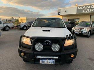 2009 Toyota Hilux KUN26R 09 Upgrade SR (4x4) White 5 Speed Manual Dual Cab Pick-up.