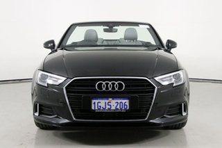 2017 Audi A3 8V MY17 2.0 TFSI S Tronic Sport Black 7 Speed Auto S-Tronic Cabriolet.