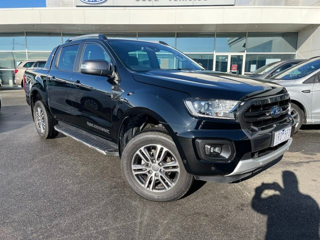 Used Ford Ranger PX MkIII 2020.25MY Wildtrak Essendon Fields, 2019 Ford Ranger PX MkIII 2020.25MY Wildtrak Black 10 Speed Sports Automatic Double Cab Pick Up