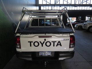 2018 Toyota Hilux GUN122R MY17 Workmate White 5 Speed Manual Dual Cab Utility