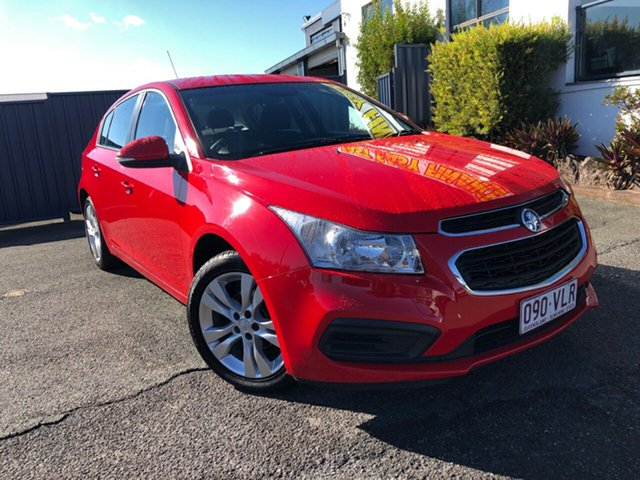 Used Holden Cruze JH Series II MY14 Equipe Slacks Creek, 2014 Holden Cruze JH Series II MY14 Equipe Red 6 Speed Sports Automatic Hatchback