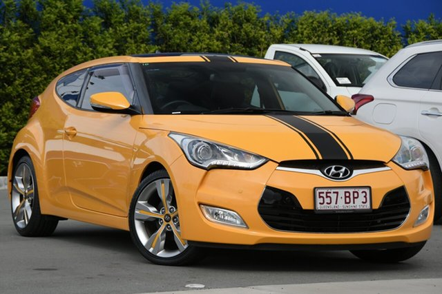 Used Hyundai Veloster FS2 Coupe D-CT Aspley, 2013 Hyundai Veloster FS2 Coupe D-CT Yellow 6 Speed Sports Automatic Dual Clutch Hatchback
