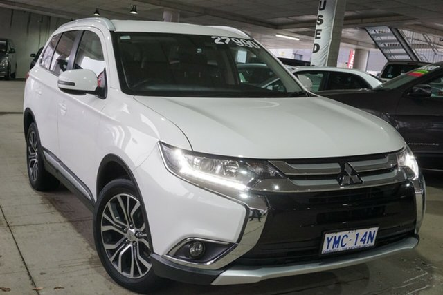 Used Mitsubishi Outlander ZK MY17 LS 4WD Phillip, 2017 Mitsubishi Outlander ZK MY17 LS 4WD White 6 Speed Constant Variable Wagon