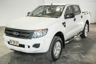 2013 Ford Ranger PX XL White 6 Speed Manual Utility.