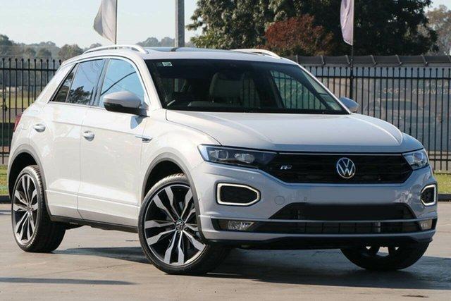 New Volkswagen T-ROC A1 MY21 140TSI DSG 4MOTION Sport Botany, 2021 Volkswagen T-ROC A1 MY21 140TSI DSG 4MOTION Sport White Silver 7 Speed