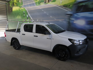 2018 Toyota Hilux GUN122R MY17 Workmate White 5 Speed Manual Dual Cab Utility.