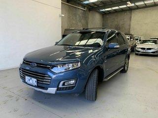 2016 Ford Territory SZ MkII Titanium Seq Sport Shift Blue 6 Speed Sports Automatic Wagon.