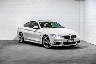 2016 BMW 4 Series F32 420i M Sport White 8 Speed Sports Automatic Coupe.
