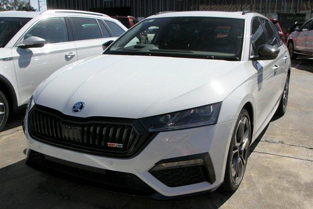 New Skoda Octavia NX MY21 RS DSG Botany, 2021 Skoda Octavia NX MY21 RS DSG Moon White 7 Speed Sports Automatic Dual Clutch Wagon