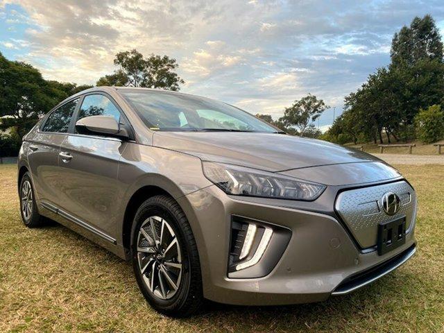 New Hyundai Ioniq AE.V4 MY21 electric Premium Mount Gravatt, 2021 Hyundai Ioniq AE.V4 MY21 electric Premium Fluid Metal 1 Speed Reduction Gear Fastback