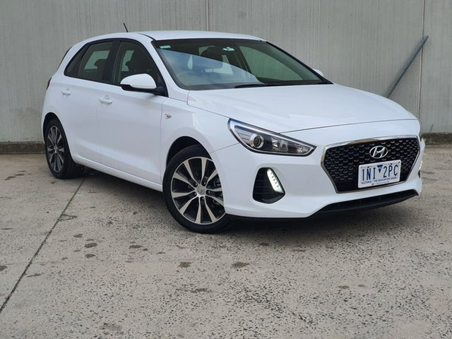 Used Hyundai i30 PD2 MY18 Trophy Oakleigh, 2018 Hyundai i30 PD2 MY18 Trophy White 6 Speed Sports Automatic Hatchback