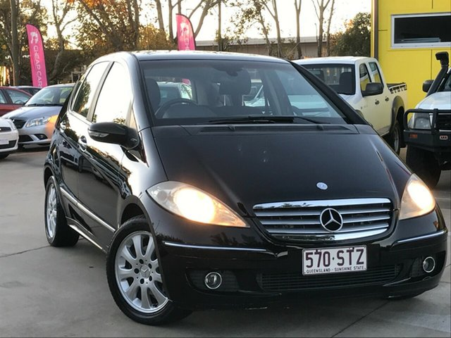 Used Mercedes-Benz A-Class W169 A200 Elegance Toowoomba, 2005 Mercedes-Benz A-Class W169 A200 Elegance Black 7 Speed Constant Variable Hatchback
