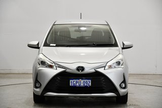 2017 Toyota Yaris NCP131R ZR Silver 4 Speed Automatic Hatchback.