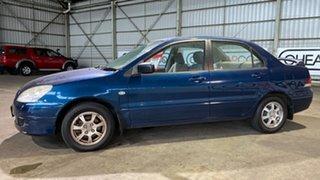 2004 Mitsubishi Lancer CH MY05 ES Blue 4 Speed Automatic Sedan.