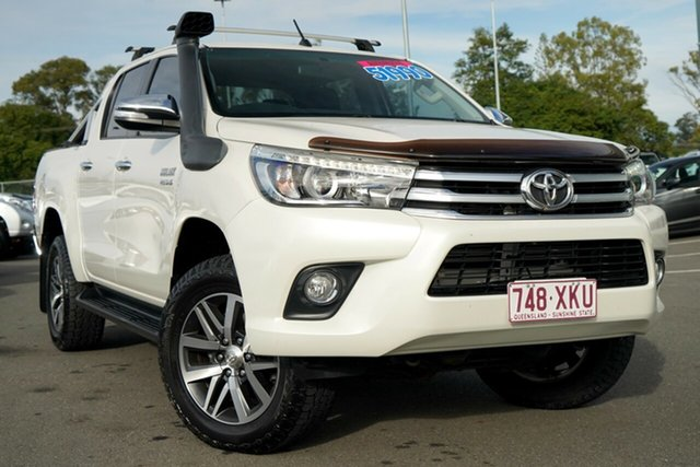Used Toyota Hilux GUN126R SR5 Double Cab Hillcrest, 2017 Toyota Hilux GUN126R SR5 Double Cab White 6 Speed Sports Automatic Utility
