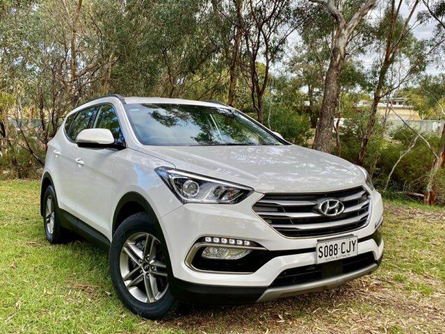Used Hyundai Santa Fe DM5 MY18 Active Reynella, 2018 Hyundai Santa Fe DM5 MY18 Active Pure White 6 Speed Sports Automatic Wagon