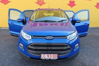 2017 Ford Ecosport BK Titanium PwrShift Blue 6 Speed Sports Automatic Dual Clutch Wagon.