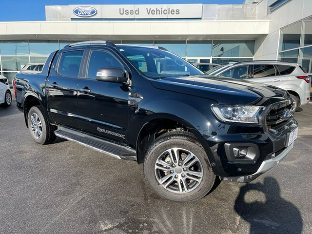 Used Ford Ranger PX MkIII 2020.75MY Wildtrak Essendon Fields, 2020 Ford Ranger PX MkIII 2020.75MY Wildtrak Black 10 Speed Sports Automatic Double Cab Pick Up
