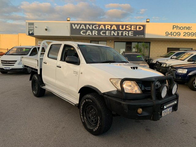 Used Toyota Hilux KUN26R 09 Upgrade SR (4x4) Wangara, 2009 Toyota Hilux KUN26R 09 Upgrade SR (4x4) White 5 Speed Manual Dual Cab Pick-up