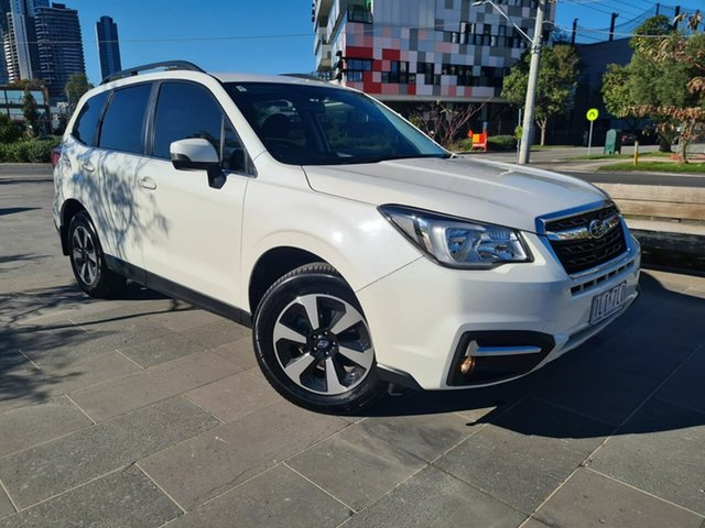 Used Subaru Forester S4 MY18 2.5i-L CVT AWD South Melbourne, 2017 Subaru Forester S4 MY18 2.5i-L CVT AWD White 6 Speed Constant Variable Wagon