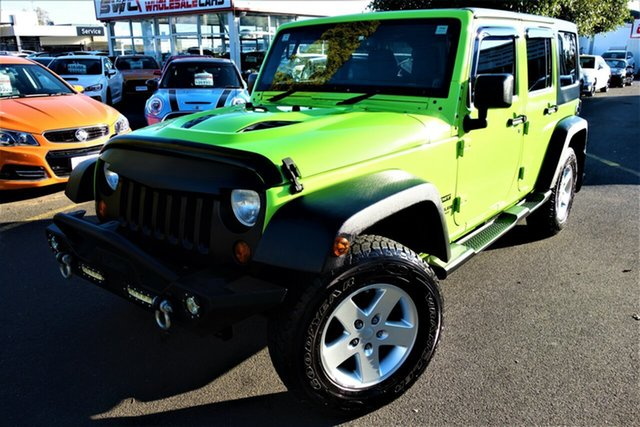 Used Jeep Wrangler JK MY2013 Unlimited Sport Seaford, 2012 Jeep Wrangler JK MY2013 Unlimited Sport Green 6 Speed Manual Softtop