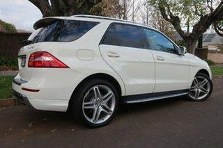 2012 Mercedes-Benz M-Class W166 ML350 BlueTEC 7G-Tronic + White 7 Speed Sports Automatic Wagon.