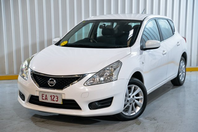 Used Nissan Pulsar C12 ST Hendra, 2014 Nissan Pulsar C12 ST White 1 Speed Constant Variable Hatchback