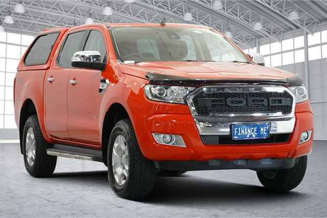 Used Ford Ranger PX MkII XLT Double Cab Victoria Park, 2016 Ford Ranger PX MkII XLT Double Cab Red 6 Speed Sports Automatic Utility