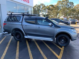 2018 Mitsubishi Triton MQ MY18 Exceed Double Cab Silver 5 Speed Sports Automatic Utility.