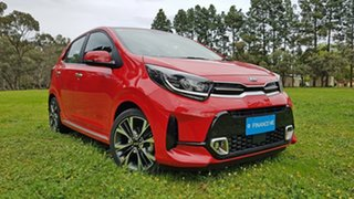 2021 Kia Picanto JA MY21 GT-Line Signal Red 4 Speed Automatic Hatchback.