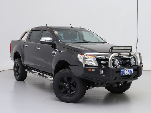 Used Ford Ranger PX XLT 3.2 (4x4), 2012 Ford Ranger PX XLT 3.2 (4x4) Black 6 Speed Automatic Double Cab Pick Up