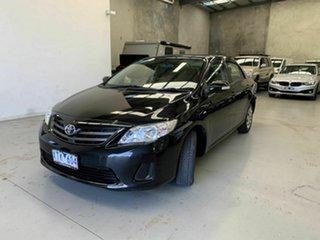 2010 Toyota Corolla ZRE152R MY10 Ascent Black 4 Speed Automatic Sedan.