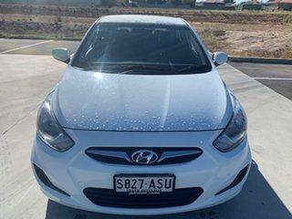 2012 Hyundai Accent RB Premium White 4 Speed Sports Automatic Hatchback.