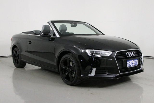 Used Audi A3 8V MY17 2.0 TFSI S Tronic Sport Bentley, 2017 Audi A3 8V MY17 2.0 TFSI S Tronic Sport Black 7 Speed Auto S-Tronic Cabriolet
