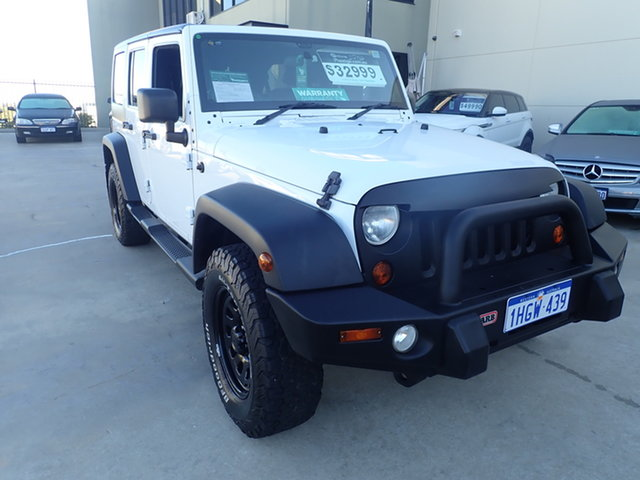 Used Jeep Wrangler Unlimited JK MY13 Sport (4x4) Wangara, 2012 Jeep Wrangler Unlimited JK MY13 Sport (4x4) White 6 Speed Manual Softtop