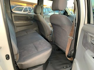 2009 Toyota Hilux KUN26R 09 Upgrade SR (4x4) White 5 Speed Manual Dual Cab Pick-up